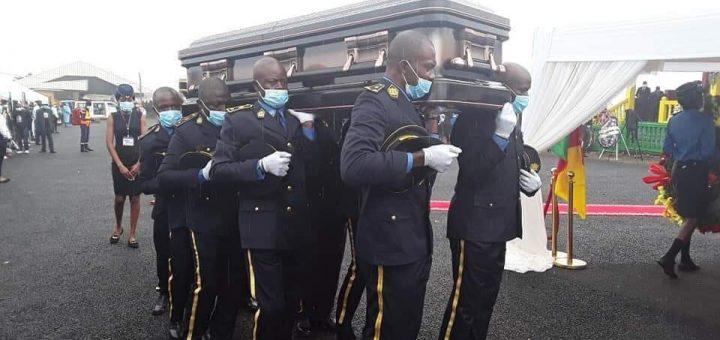 Funeral of Simon Achidi Achu in Santa
