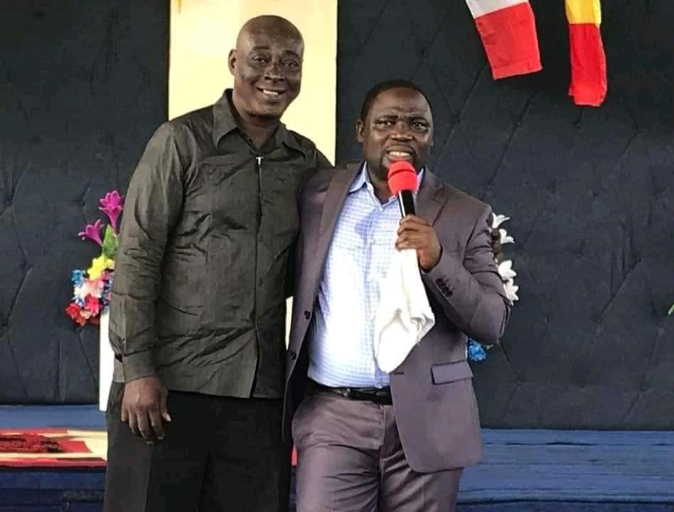 Ndoumbe Dibobe and his Pastor